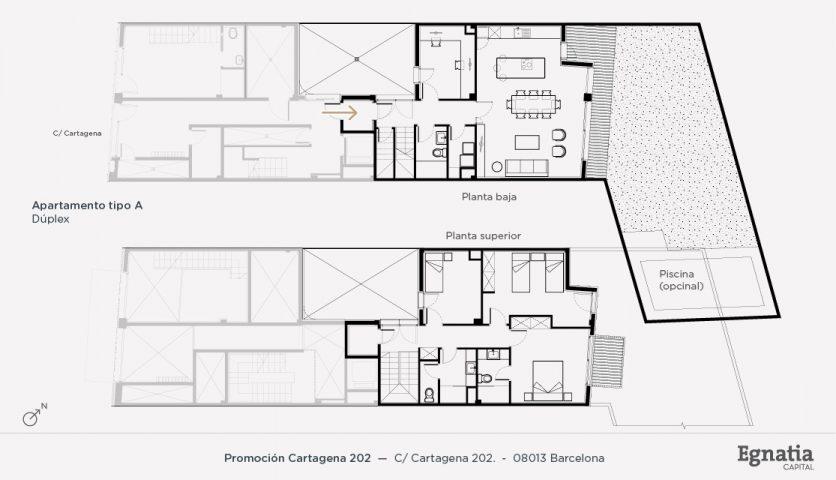 Cartagena 202 apartamento tipo A dúplex