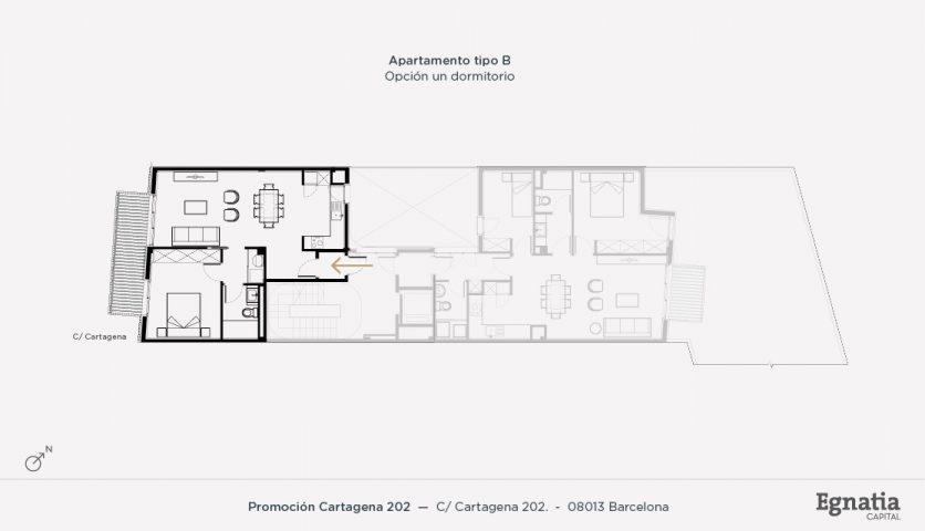 Cartagena 202 apartamento tipo B, un dormitorio