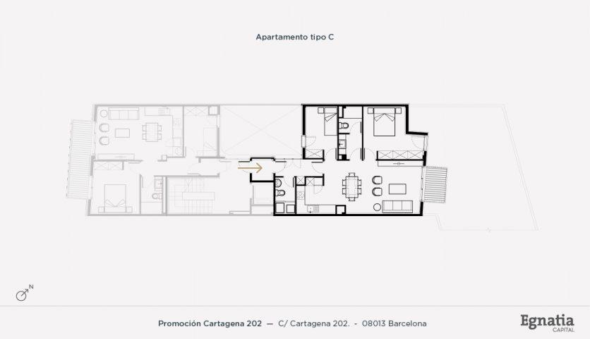 Cartagena 202 apartamento tipo C